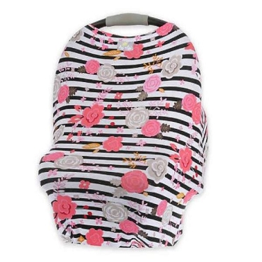 Mom Boss Multi Use Cover ~ Floral Stripe