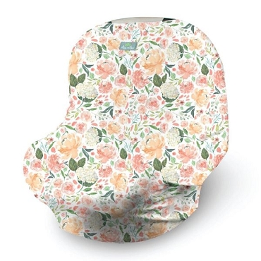 Mom Boss Multi Use Cover ~ Peach Floral
