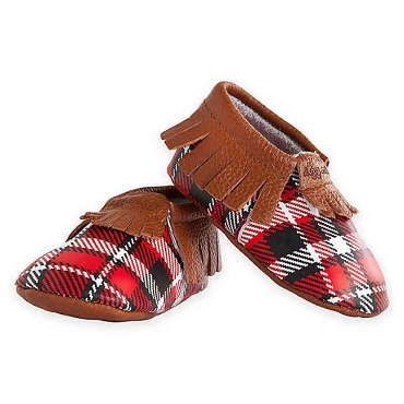 Moccasins Lumberjack Plaid (6-12 Month)