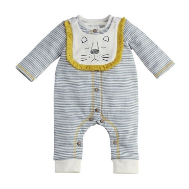 Lion Bib and Sleeper Set 3 - 6 Months