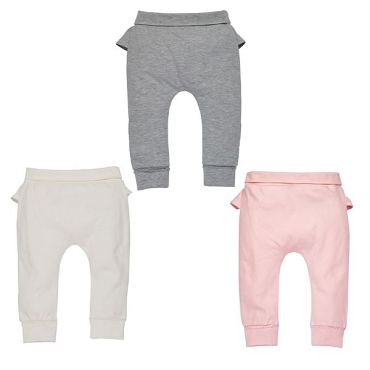 Ruffle Pants - Grey - 9 - 12Mo.
