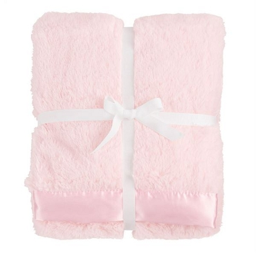Satin Trim Blanket - Pink