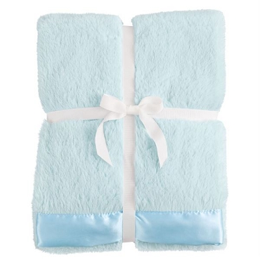 Satin Trim Blanket - Blue